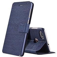Coque Portefeuille Livre Cuir pour Huawei Enjoy 7 Bleu
