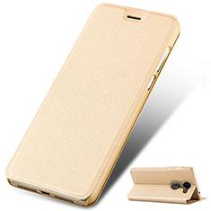 Coque Portefeuille Livre Cuir pour Huawei Enjoy 7 Plus Or