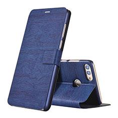 Coque Portefeuille Livre Cuir pour Huawei Enjoy 8 Plus Bleu