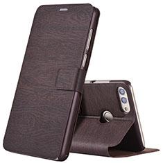 Coque Portefeuille Livre Cuir pour Huawei Enjoy 8 Plus Marron