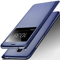 Coque Portefeuille Livre Cuir pour Huawei G9 Plus Bleu