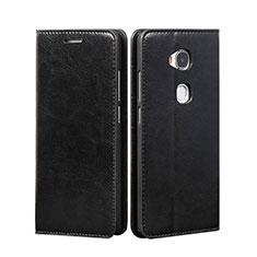 Coque Portefeuille Livre Cuir pour Huawei GR5 Noir