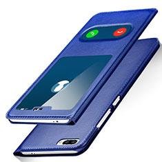 Coque Portefeuille Livre Cuir pour Huawei Honor 10 Bleu