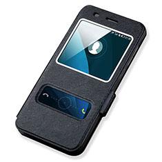 Coque Portefeuille Livre Cuir pour Huawei Honor 4A Noir