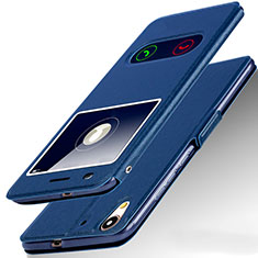Coque Portefeuille Livre Cuir pour Huawei Honor 5A Bleu