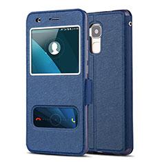 Coque Portefeuille Livre Cuir pour Huawei Honor 5C Bleu