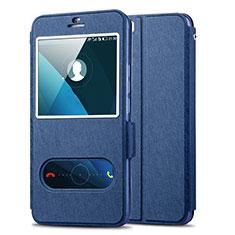 Coque Portefeuille Livre Cuir pour Huawei Honor 6 Plus Bleu