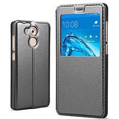 Coque Portefeuille Livre Cuir pour Huawei Honor 6C Pro Noir