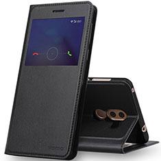 Coque Portefeuille Livre Cuir pour Huawei Honor 6X Noir