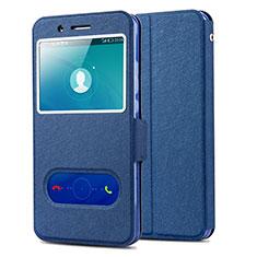 Coque Portefeuille Livre Cuir pour Huawei Honor 7i shot X Bleu