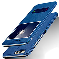 Coque Portefeuille Livre Cuir pour Huawei Honor 7X Bleu