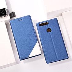 Coque Portefeuille Livre Cuir pour Huawei Honor 8 Bleu