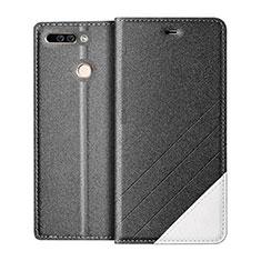 Coque Portefeuille Livre Cuir pour Huawei Honor 8 Pro Gris