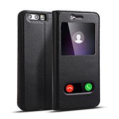 Coque Portefeuille Livre Cuir pour Huawei Honor 9 Premium Noir