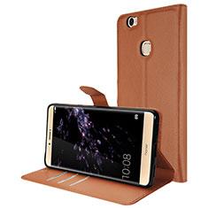 Coque Portefeuille Livre Cuir pour Huawei Honor Note 8 Marron