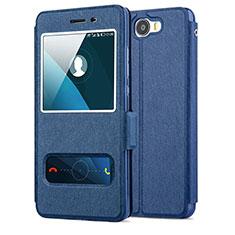 Coque Portefeuille Livre Cuir pour Huawei Honor Play 5 Bleu