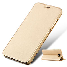 Coque Portefeuille Livre Cuir pour Huawei Honor Play 5 Or