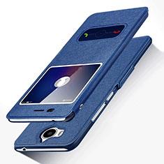 Coque Portefeuille Livre Cuir pour Huawei Honor Play 6 Bleu
