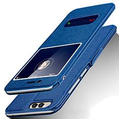 Coque Portefeuille Livre Cuir pour Huawei Honor Play 7X Bleu
