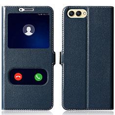 Coque Portefeuille Livre Cuir pour Huawei Honor V10 Bleu