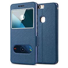 Coque Portefeuille Livre Cuir pour Huawei Honor V8 Bleu