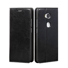 Coque Portefeuille Livre Cuir pour Huawei Honor X5 Noir