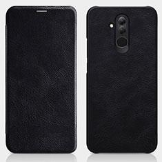 Coque Portefeuille Livre Cuir pour Huawei Maimang 7 Noir