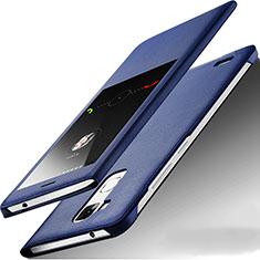 Coque Portefeuille Livre Cuir pour Huawei Mate 7 Bleu