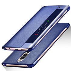 Coque Portefeuille Livre Cuir pour Huawei Mate 9 Pro Bleu