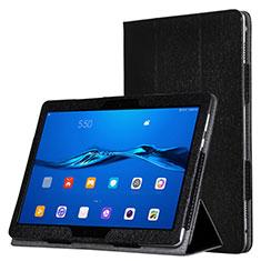 Coque Portefeuille Livre Cuir pour Huawei MediaPad M3 Lite Noir