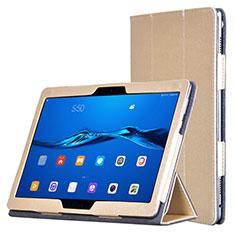 Coque Portefeuille Livre Cuir pour Huawei MediaPad M3 Lite Or