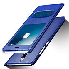 Coque Portefeuille Livre Cuir pour Huawei Nova 2i Bleu