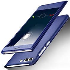 Coque Portefeuille Livre Cuir pour Huawei Nova 2S Bleu