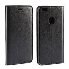 Coque Portefeuille Livre Cuir pour Huawei P10 Lite Noir