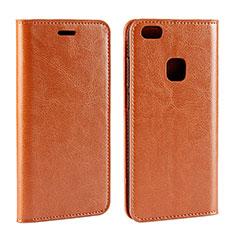 Coque Portefeuille Livre Cuir pour Huawei P10 Lite Orange