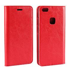 Coque Portefeuille Livre Cuir pour Huawei P10 Lite Rouge