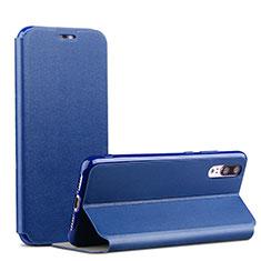 Coque Portefeuille Livre Cuir pour Huawei P20 Bleu