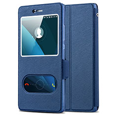 Coque Portefeuille Livre Cuir pour Huawei P8 Bleu