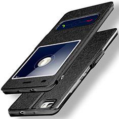 Coque Portefeuille Livre Cuir pour Huawei P8 Lite Noir