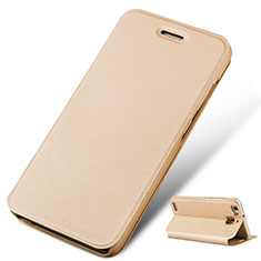 Coque Portefeuille Livre Cuir pour Huawei P8 Lite Smart Or