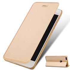 Coque Portefeuille Livre Cuir pour Huawei P9 Lite Mini Or