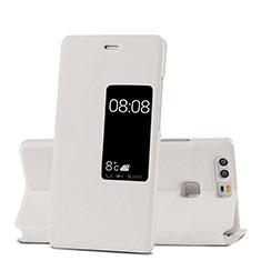 Coque Portefeuille Livre Cuir pour Huawei P9 Plus Blanc