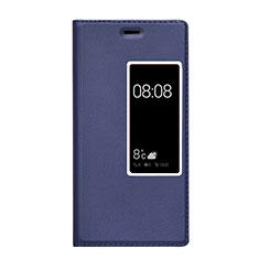 Coque Portefeuille Livre Cuir pour Huawei P9 Plus Bleu