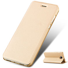 Coque Portefeuille Livre Cuir pour Huawei Y6 (2017) Or