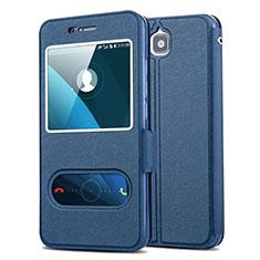 Coque Portefeuille Livre Cuir pour Huawei Y6 Pro Bleu