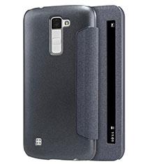 Coque Portefeuille Livre Cuir pour LG K10 Noir
