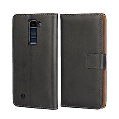 Coque Portefeuille Livre Cuir pour LG K7 Noir