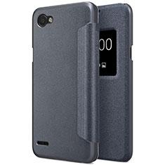 Coque Portefeuille Livre Cuir pour LG Q6 Noir