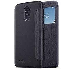 Coque Portefeuille Livre Cuir pour LG Stylus 3 Noir