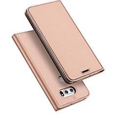 Coque Portefeuille Livre Cuir pour LG V30 Or Rose